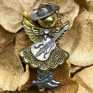 Jewelry - Cowgirl Angel Brooch